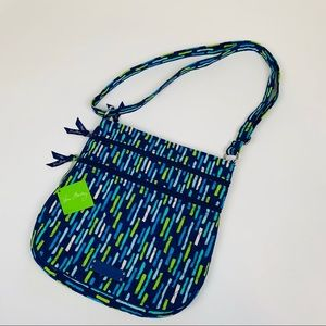 Vera Bradley Triple Zip Hipster Crossbody Bag